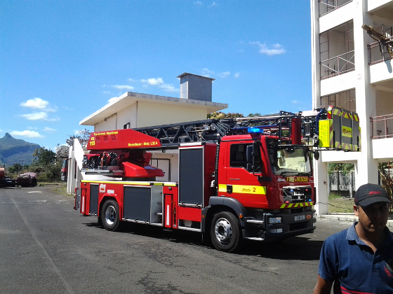 Ladder truck L32 - MAN truck with Rosenbauer built-up and equipment by Metz