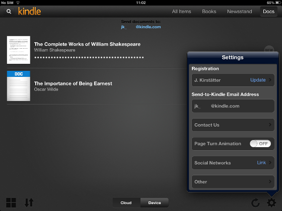 Side-load and read your mobi ebooks on Kindle for iOS - Get
