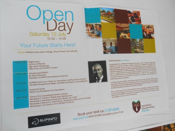 Open Day at Medine Education Village - SUPINFO International University in Mauritius