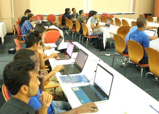 GWAB 2014 attendees are fully integrated into the hands-on-labs and setting up their individuals cloud computing services