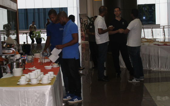 GWAB 2014: Using the lunch break for networking and exchange of ideas - Great conversations and topics amongst attendees