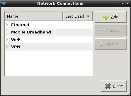 Network connections overview in Ubuntu