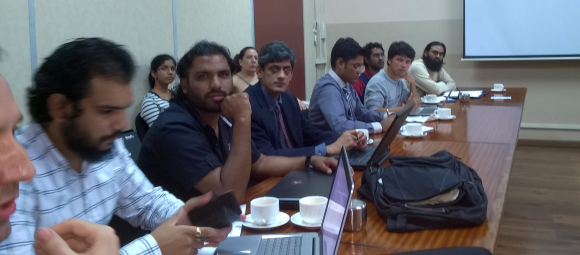 Attendees of various IT user groups and communities in Mauritius at the workshop with the World Bank on Open Data in Mauritius