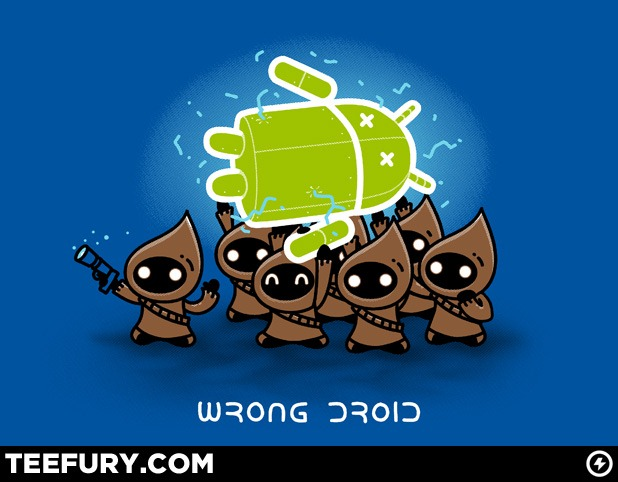 Image courtesy of teefury.com and AndroidPolice.com