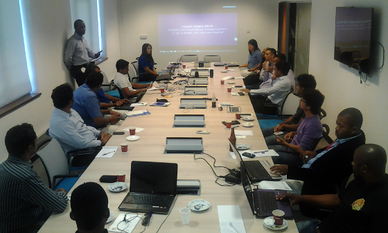 Introducing the Mauritius Software Craftsmanship Community in front of the attendees of the Virtual Launch event of Visual Studio 2013