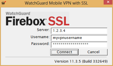 Remote server and user authentication to establish the VPN