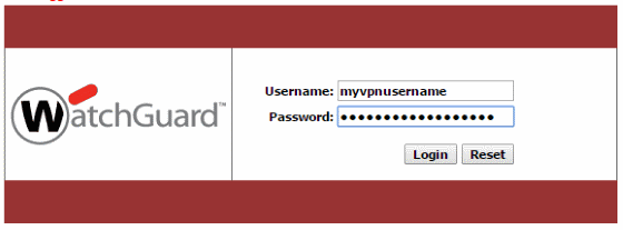 Login into the WatchGuard Firebox to get the Mobile VPN with SSL Client information