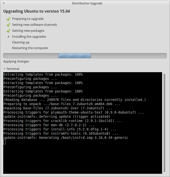 Upgrade to Xubuntu 15.04 - Vivid Vervet
